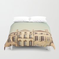 art history Duvet Covers featuring designated town of art & history ... by Laura Evans