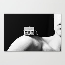 House on a Hill, III Canvas Print