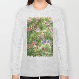 Birds and Orchids Tropical Rainforest II Long Sleeve T-shirt