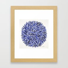 Navy Burst Framed Art Print