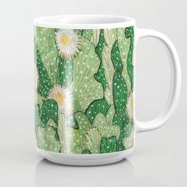 Cacti Camouflage, Green and White Coffee Mug