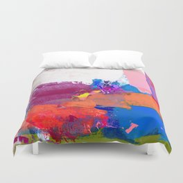 polo abstract red blue Duvet Cover