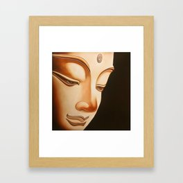 Tranquil oil painting of a peaceful Buddha  Framed Art Print