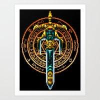 sword Art Prints featuring Bloody Sword by Naavech Verro