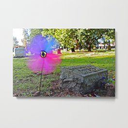 The spinner spins Metal Print