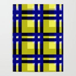 pattern blue jellow black 2 Poster