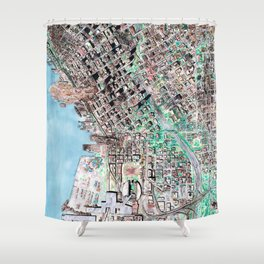 The Seattle Doomsday Map Shower Curtain