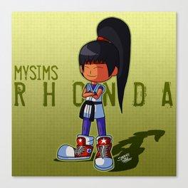 Rhonda as Yuri Sakazaki Canvas Print