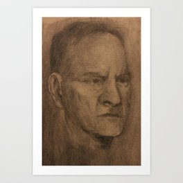 Portrait On Toned Fabriano Art Print