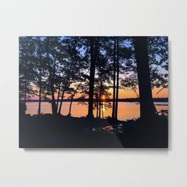 Sunrise at Lake Pemaquid Campground in Damariscotta, Maine (2) Metal Print