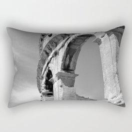 arena amphitheatre pula croatia ancient high black white Rectangular Pillow