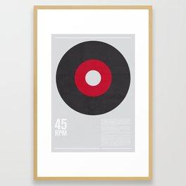 45 RPM Framed Art Print