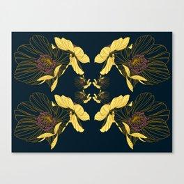 Art Nouveau Poppy Abstract Canvas Print