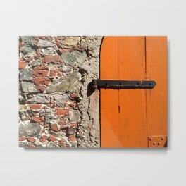 Historic St. Thomas, USVI, Door way Metal Print