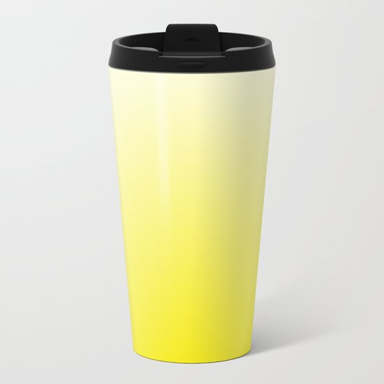 Simply sun yellow color gradient - Mix and Match with Simplicity of Life Metal Travel Mug
