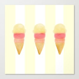 Ice Cream Trio Canvas Print