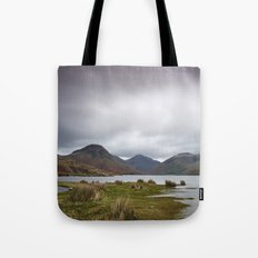 Rain clouds over Scafell and Great Gable. Wastwater, Cumbria, UK. Tote Bag