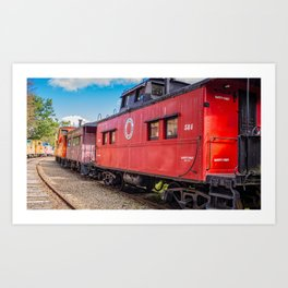 Red Caboose Tilton New Hampshire Art Print