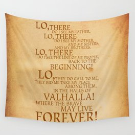 Viking Prayer Wall Tapestry