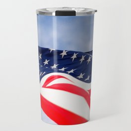 Its a grand ol flag waving in the breeze on a beautiful Memorial Day Travel Mug