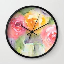 Soft Bouquet Wall Clock