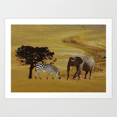 Abstract Africa Art Print
