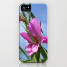 Pink Flowers - Field Gladiolus iPhone Case