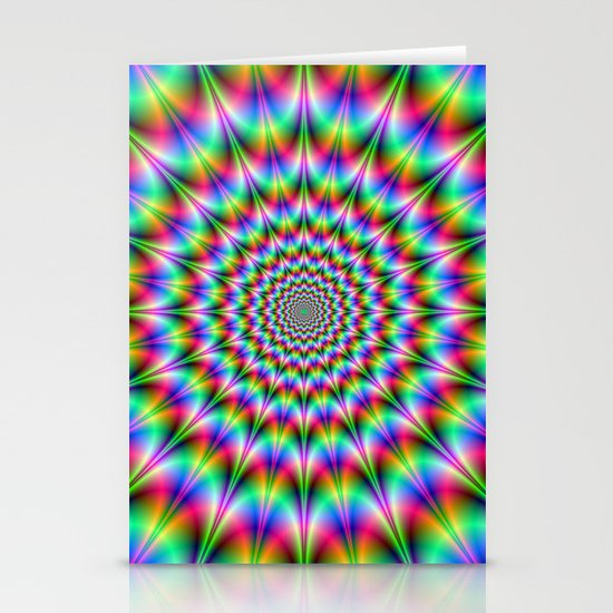 Psychedelic Explosion Stationery Cards