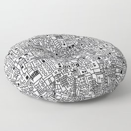 Marginal Landscape of Bogota´s Neighbourhood in Colombia Floor Pillow