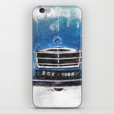 2 CV Citroen front blau iPhone & iPod Skin