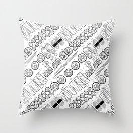 Sushi Coloring Throw Pillow