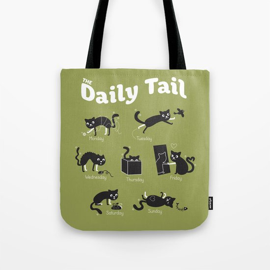 The Daily Tail Cat Tote Bag
