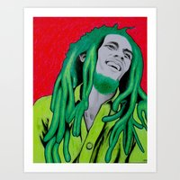 marley Art Prints featuring Marley by Ty McKie Creations