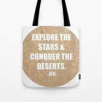jfk Tote Bags featuring JFK by American Sins