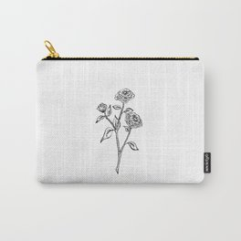 Zinnia Wildflower Carry-All Pouch