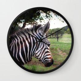 Profile of a Zebra  Wall Clock