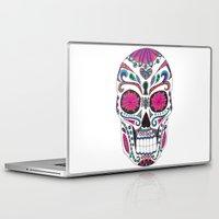 sugar skull Laptop & iPad Skins featuring Sugar Skull by Laura Maxwell