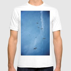 Birds of a Feather (B2) MEDIUM White Mens Fitted Tee