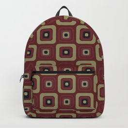 Retro Building Blocks Vintage Seamless Pattern Backpack