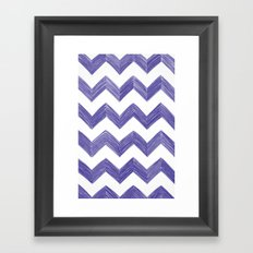 Classic Chevrons in Blue-Purple Framed Art Print
