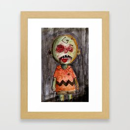 You're a zombie Charlie Brown Framed Art Print