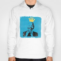 mandela Hoodies featuring King Mandela by César Ovalle