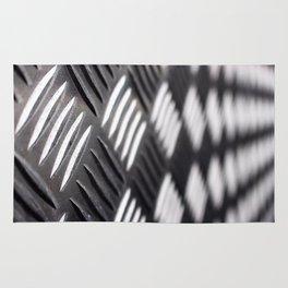 Checker plate metal Rug