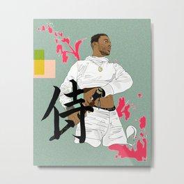 Nigel the Samurai Metal Print