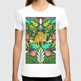 Cheetah Couple Illustration, Wild Cat Jungle Nature, Mandala Painting, Wildlife Tropical Tiger T-shirt