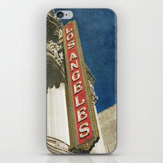 1931 Los Angeles Theatre Vintage Sign iPhone & iPod Skin