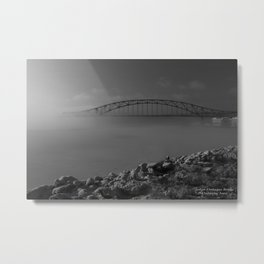 Julian Dubuque Bridge and the Mississippi River Metal Print
