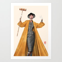 Croquet and Ink Eight Art Print