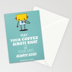 May Your Coffee Always Right Stationery Cards