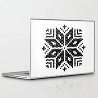 knit Laptop & iPad Skins featuring knit flake by Miranda J. Friedman